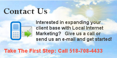 contact us for local internet marketing slide